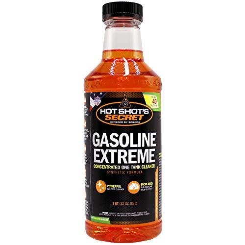 Hot Shot's Secret Gasoline Extreme - Concentrated Injector Cleaner - 1 QT Bottle Restores for 10K Miles