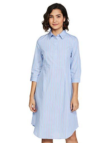 Amazon Brand – Symbol Women's Cotton Shirt Midi Dress