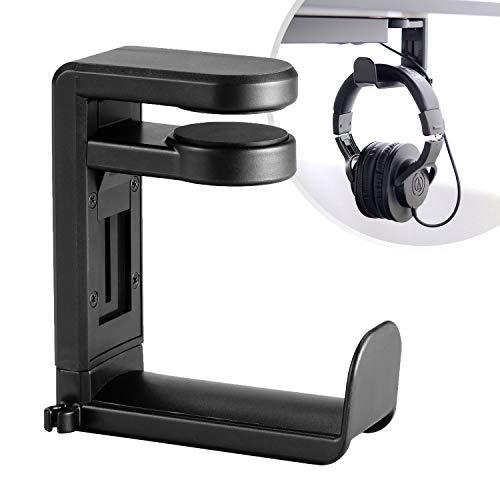 Desire2 - Soporte para auriculares, con muelles giratorios de 360 grados, gancho para colgar auriculares, para Momentum, Solo3, Studio3, QuietComfort y más, color negro