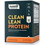 Nuzest Clean Lean Protein - Premium Vegan Protein Powder, Plant Protein Powder, European Golden Pea Protein, Dairy Free, Gluten Free, GMO Free, Naturally Sweetened, Mixed Pack, 10 Count
