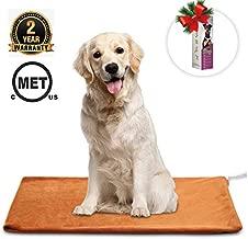 MARUNDA Pet Heating Pad ?Dog Cat Pet Heating Blanket Indoor Waterproof,Auto Constant Temperature Warming 15x24 inches Bed with Chew Resistant Steel Cord