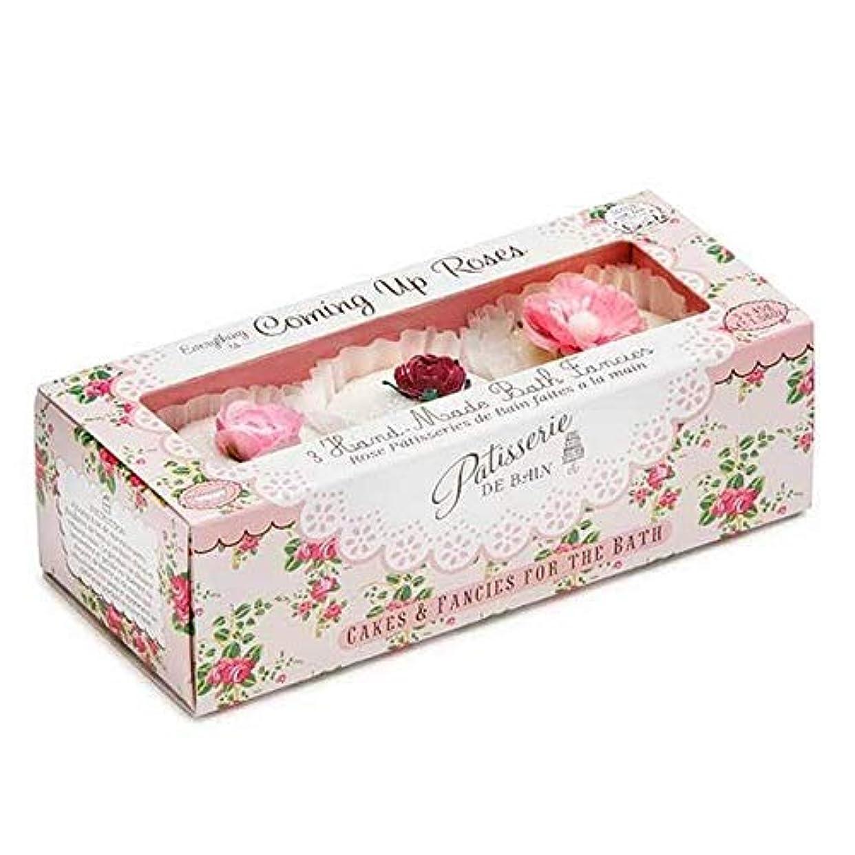 子孫数字一口[Patisserie de Bain ] パティスリー?デ?ベインのすべてのバラ風呂は3×45グラムを溶かし - Patisserie de Bain Everything Roses Bath Melts 3 x 45g [並行輸入品]