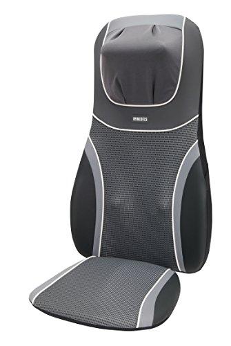 HoMedics BMSC-4600H-EU - Respaldo masajeador Shiatsu SensaTouch, tres programas, calor infrarrojo, cervical, color gris negro