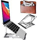 ivoler Soporte Portátil, Soporte Tablet ,6 Ángulos Ajustables,3 Modos Plegables, ABS Silicona Aleación de Aluminio, Laptop Stand, Ligero Elevador Portátil para Macbook DELL XPS, HP, PC 10-15.6'