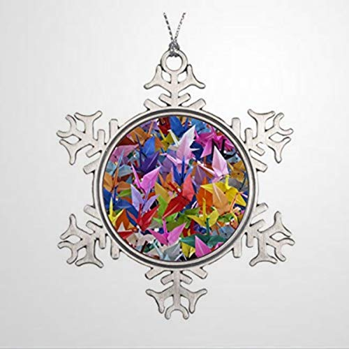 BYRON HOYLE 1.000 grúas de papel de origami adorno de Navidad copo de nieve adornos de Navidad decoración de boda regalo