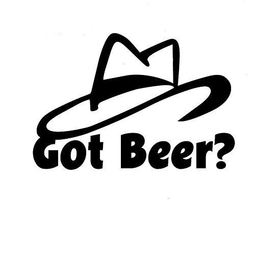 Sticker de carro 15.6cm X 10.4cm¿Cerveza?Sombrero automóvil auto vinilo calcomanía adhesivo accesorios coche divertido coche pegatina negro astilla (Color Name : Black)