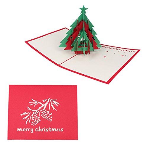 Fendiy3D - Biglietto di auguri pop-up per matrimonio, compleanno, albero di Natale, cartolina regalo