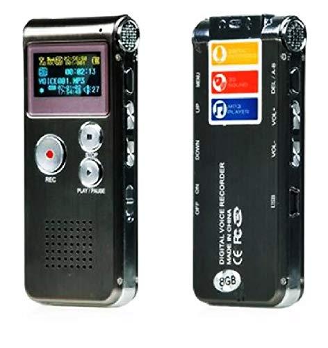 Gravador De Voz Digital 8gb Escuta Telefônica Mp3 Top Linha