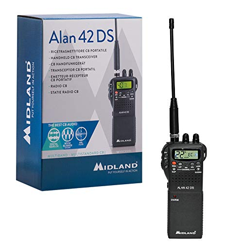 Midland Alan 42 DS - CB Radio Portable Transceiver AM/FM Multi Band for All European Union Countries