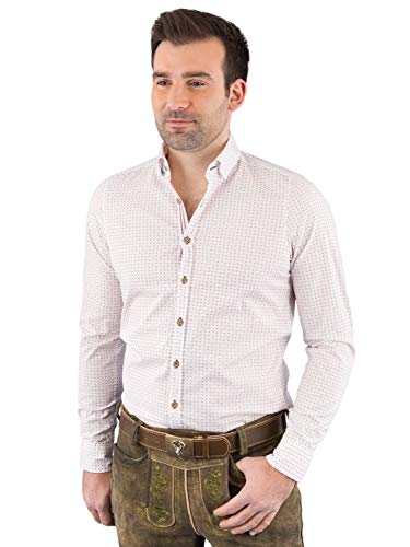 Pure Trachtenhemd Herren Langarm C52611-21394-374 374 M