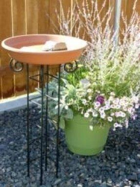 Om Craft Villa Earthen Pot Terracotta Bird Bath, Earth Brown (Round Shape)
