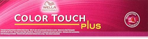 WELLA Color Touch Plus - Crema tonificante intensiva 55/04 rojo / marrón claro 60ml
