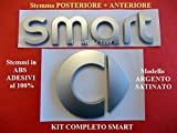 Smart FORTWO FORFOUR Kit Stemmi Anteriore A4518170116 + Posteriore A45018170116 Badge Emblema Fregio Logo