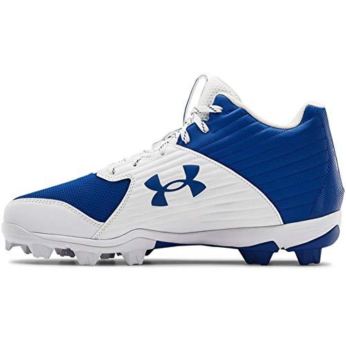 Under Armour Men's Leadoff Mid RM Baseball Shoe, Royal (400)/White, 13