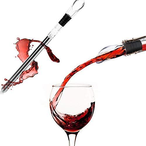 Edelstahl-Belüftung und Weinausgießer, 3-in-1, Rotweinflaschenkühlstab, einfach zu reinigen und zu verwenden, breite Palette von Anwendungen (Farbe: 1)