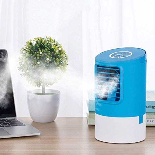 Kyman Air Conditioner Arctic Air Personal Space Cooler,Humidifier, Purifier,3 in 1 USB Mini Portable Air Conditioner and Colors Nightlight