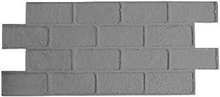 Worn Brick Running Bond Concrete Stamp Single by Walttools   Classic Masonry Paver Pattern, Sturdy Polyurethane Texturing Mat, Decorative Realistic Detail (Floppy/Flex)