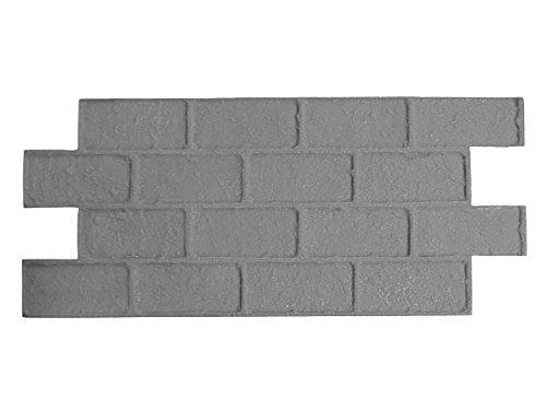 Worn Brick Running Bond Concrete Stamp Single by Walttools | Classic Masonry Paver Pattern, Sturdy Polyurethane Texturing Mat, Decorative Realistic Detail (Floppy/Flex)