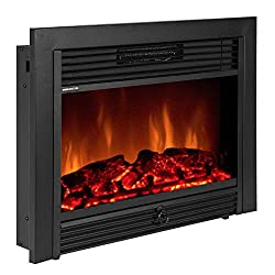 Best Choice Products Realistic Electric Fireplace Heater Insert