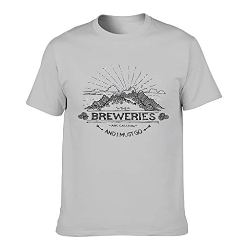 Knowikonwn Camiseta de algodón The Breweries are Calling para hombre
