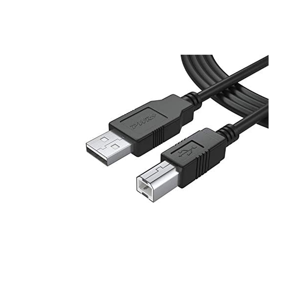 6 Ft Long USB-Printer-Cable 2.0 for HP OfficeJet Laserjet Envy; Canon Pixma; Epson...