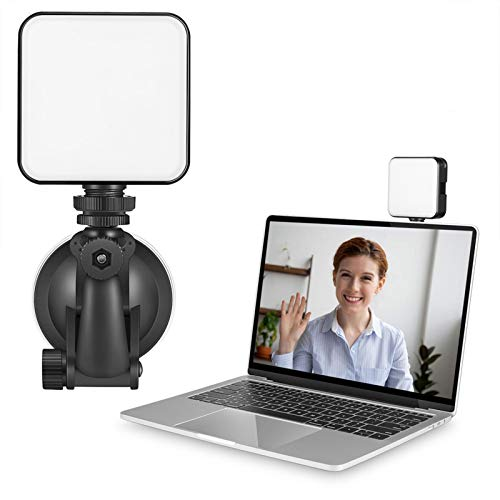 Lámpara de vídeo LED, mini cámara, luz portátil, lámpara regulable, 3200 – 5600 K, brillo USB, con cabezal de bola ajustable de 360 grados, para Vlog fotos, vídeo, conferencia, portátil, fotografía