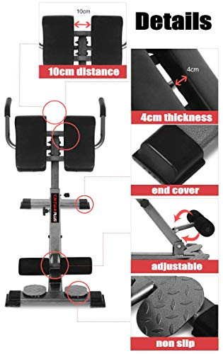 Product Image 3: HULKWHEELS Bench Roman Chair Back Hyperextension Adjustable AB Bench Hyperextension Exercise Hyper Bench Strength Training Back Machines (Black)