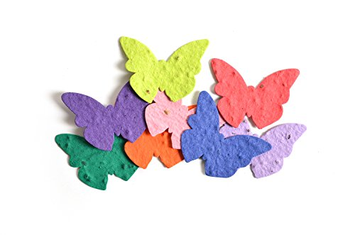 Bloomin Seed Paper Shapes Packs - Butterfly Shapes - 100 Shapes Per Pack - 2.3x1.8' {Color Mix}