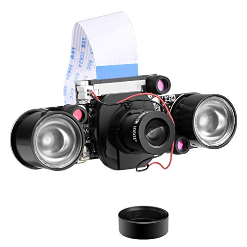 LonGruner Camera Module voor Raspberry PI 5MP 1080p OV5647 Sensor HD Video Webcam Supports Night Vision for Raspberry Pi 3 Model B B + A+ RPi 2 1 Camera LSC15 LC26