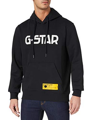 G-STAR RAW Regular Fit Sudadera con Capucha, Dk Black A971-6484, M para Hombre