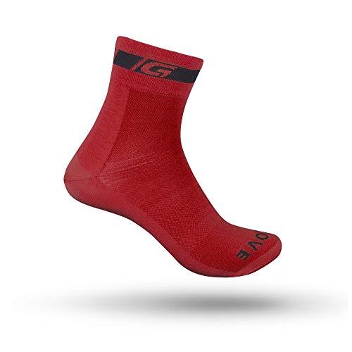 GripGrab Verano Deporte Altura 12cm Calcetines Ciclismo, Adultos Unisex, Rojo, M (41-44)