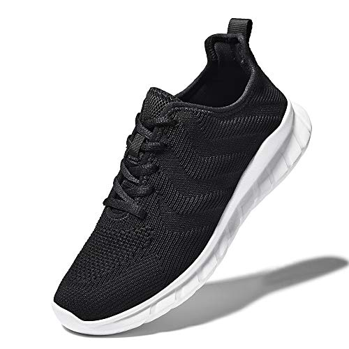 LK LEKUNI Zapatillas Running Hombre Mujer Zapatos Deporte para Correr Trail Fitness Sneakers Ligero Transpirable-Negro03-42