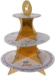 DKB Weihnachts Etagere Servierst/änder 3 Ebenen Weihnachten Advent Muffinst/änder Gold