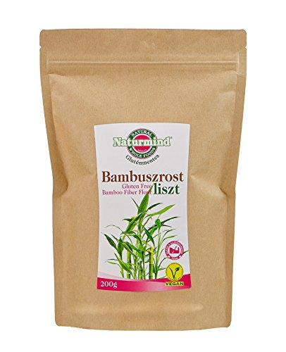 Natur Bambusfaser Mehl 200g Glutenfrei Paleo-Vegan Produkte
