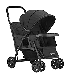 top 10 double strollers JOOVY Caboose Graphite Graphite Tandem Wagon with Stand Black