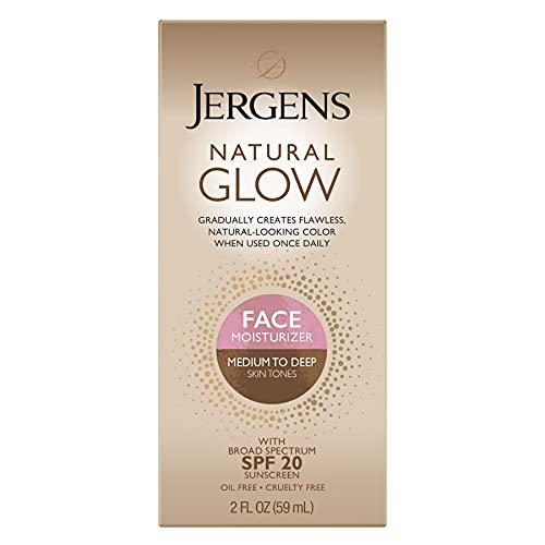Jergens Natural Glow Self Tanner Face Moisturizer, SPF 20 Facial...
