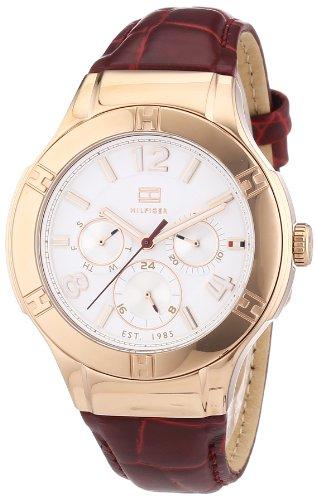 Tommy Hilfiger 1781359 - Reloj para Mujeres, Correa de Cuero Color Rojo