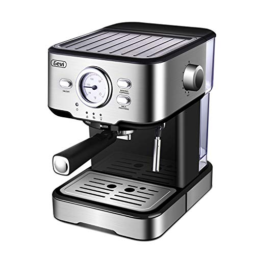 Best Review Of Espresso Coffee Maker Cappuccino Machine & Latte Machines with 15 Bar Powerful Pump A...