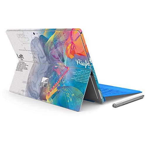 MasiBloom - Adesivo protettivo per computer portatile, per Microsoft Surface Pro 6 (2018 rilasciato) e nuova Surface Pro 2017 e Pro 4 (Brain- blu)