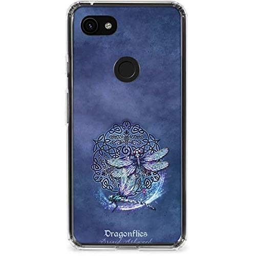 Skinit Clear Phone Case Compatible with Google Pixel 3a XL - Originally Designed Dragonfly Celtic Knot Design