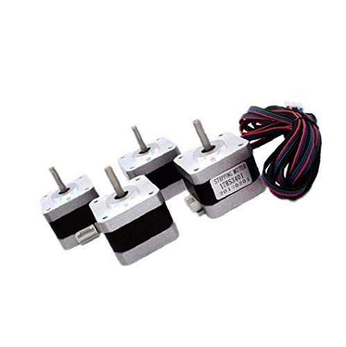 Nema 17 Stepper Motor 4 Lead 42 Motor 17HS3401 with Cable for 3D Printer CNC Extruder Parts Accessories 4PCS Firm Hardware for Industry