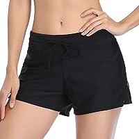 Mujeres Shorts de Deporte Sólido Pantalones Cortos de Deportivos para el Gimnasio Playa Al Aire Libre Verano Negro M