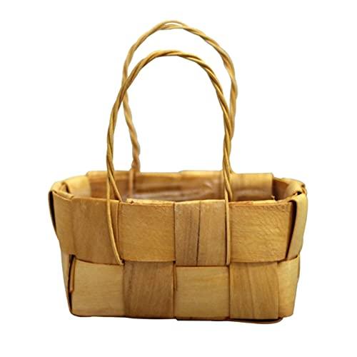 cesta mimbre pequeña de la marca