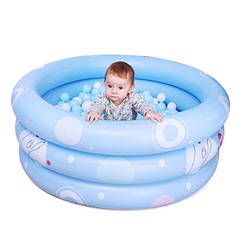 Gonflable baignoire Bébé maison gonflable bain bébé piscine pliable bébé baignoire maison bain bassin enfants gonflable baignoire (Color : Blue, Size : 125 * 125 * 43cm)