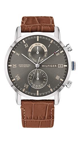Tommy Hilfiger Reloj Analógico para Hombre de Cuarzo con Correa en Cuero 1710398