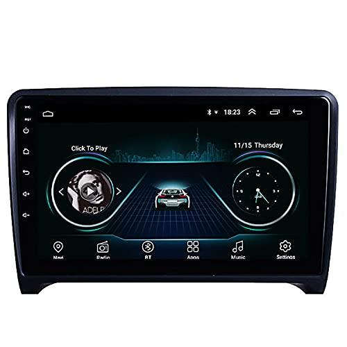 SuRose Reproductor Multimedia estéreo para Coche Android para Audi TT MK2 2006-2014 Compatible con navegación GPS/Carplay/FM Am RDS Autoradio/Control del Volante Bluetooth/Control de Voz DSP, etc.