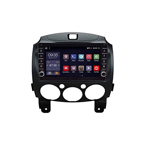 Coche Estéreo Audio Player Multimedia SAT NAV HD Pantalla táctil Support Bluetooth GPS WiFi FM Radio Dual USB Port Refleel Enlace para Mazda 2 2007-2014,4 core 4g+wifi: 1+32gb