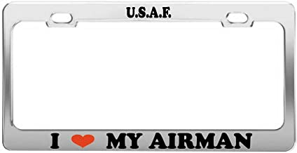 Best i love my airman license plate frames Reviews