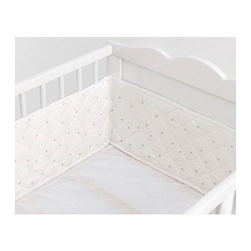 IKEA HIMMELSK Randschutz für Babybett; in weiß/grau; (120x60cm)