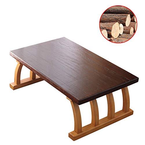 Gartenmöbel & Zubehör Tische Couchtisch Wohnzimmer Massivholz Erker Tisch Schlafzimmer Esstisch japanischer Stil Balkon niedriger Tisch gebeugtes Bein (Color : Wood, Size : 30 * 45 * 70cm)